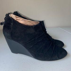 BCBG I Black Wedge Bootie Size 8